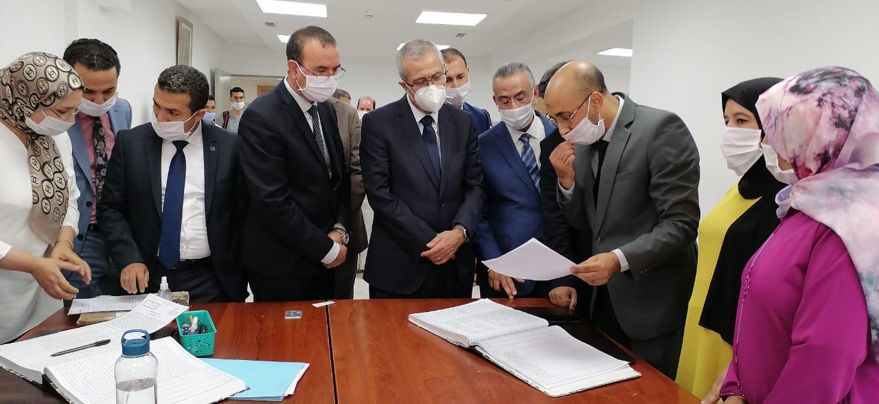 بالخميسات وبالصور :وزير العدل يشرف على افتتاح المقر الجديد لقضاء القرب