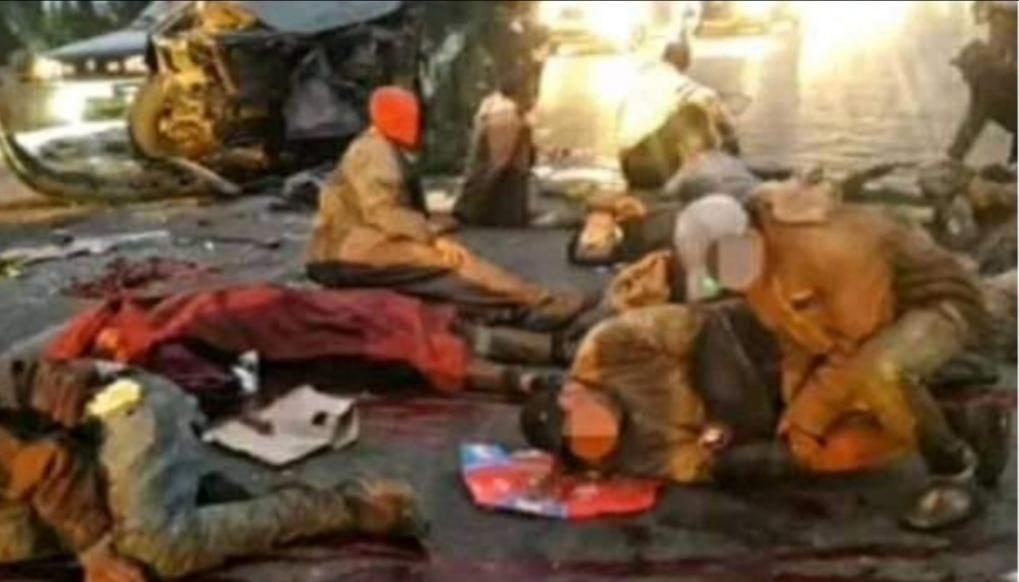 حادثة سير مروعة خلفت عدة ضحايا على النقطة المدارية المصور راسو