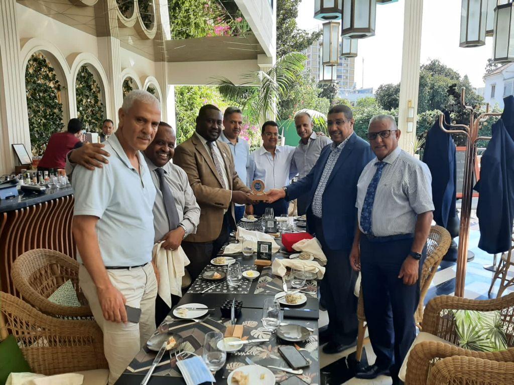رئيس الودادية الحسنية للقضاة الاستاذ عبد الحق العياسي يستقبل وفدا من جمعية القضاة السودانيين
